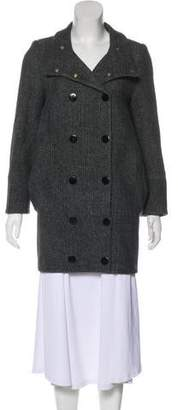 Stella McCartney Herringbone Wool Short Coat