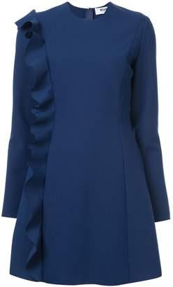 MSGM frill detail long-sleeved dress
