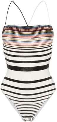 Missoni Mare Striped stretch strappy back one-piece