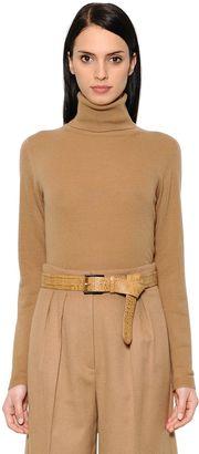 Max Mara Wool & Cashmere Knit Turtleneck Sweater