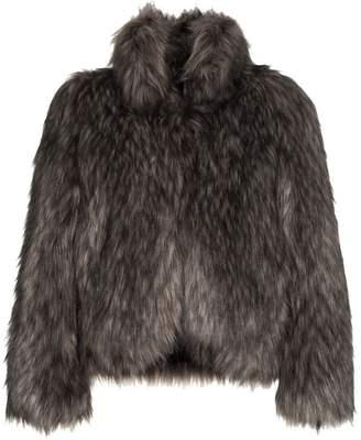 Philosophy di Lorenzo Serafini high collar short faux fur coat