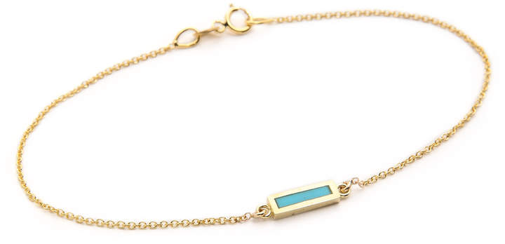 Jennifer Meyer Jewelry Inlay Short Bar Bracelet