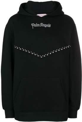 Palm Angels stud detail hoodie