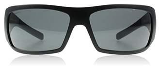 Prada Sport 01LS 1B01A1 Matte Black / Black Rubber 01LS Wrap Sunglasses Lens Ca