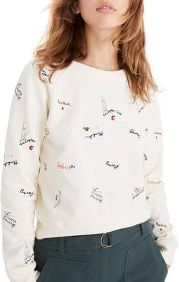 Madewell Embroidered Shrunken Sweatshirt