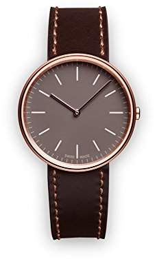 Uniform Wares M35 Swiss Quartz Stainless Steel and Brown Leather Watch