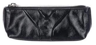 Saint Laurent Patent Leather Zip Pouch