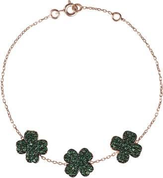 Rosegold Latelita London - Triple Green Lucky Clover Bracelet
