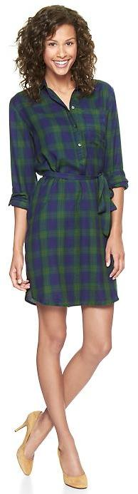 Gap Plaid flannel shirtdress
