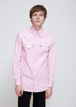 Calvin Klein Cotton Gabardine Officer Shirt