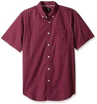 Obey Men's Sterling Slim Fit Woven Short Sleeve