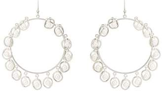 Mounser MOUNSER WOMEN'S HALF SHELL HOOP EARRINGS - SILVER