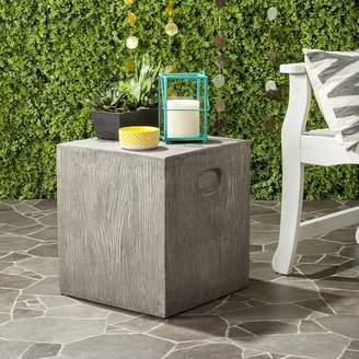 west elm Cube Concrete Outdoor Accent Table