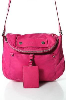 Marc By Marc JacobsMarc By Marc Jacobs Pink Nylon Zipper Closure Crossbody Handbag
