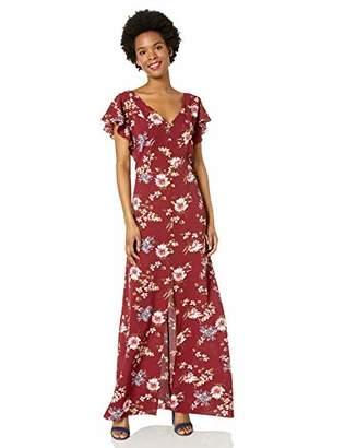 e860632b0 Amy Byer A. Byer Flutter Sleeve Cross Back Maxi Dress (Junior's)