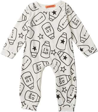 Funkyberry Milk Printed Coverall (Baby Girls)