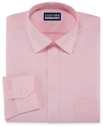 Coolmax STAFFORD Stafford Stafford All Season Big And Tall Long Sleeve Woven Dress Shirt