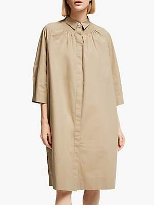KIN Shirred Shirt Dress, Natural