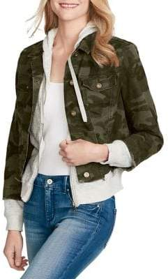 Jessica Simpson Camouflage Twofer Jacket