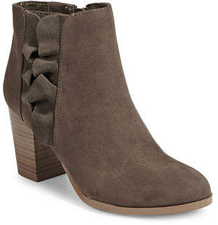 Fergalicious Cashen Ruffle Heeled Ankle Booties