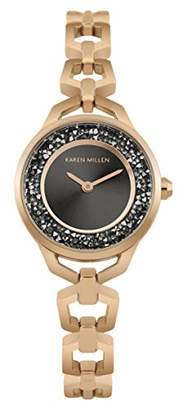 Karen Millen Women's Quartz Brass and Stainless Steel Watch