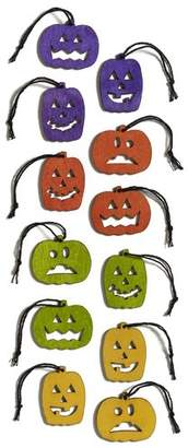 Design Ideas Salem Jack of Lanterns 24 Piece Shaped Ornament Set
