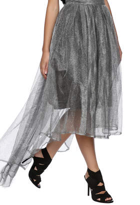 Gracia Silver Tulle Skirt