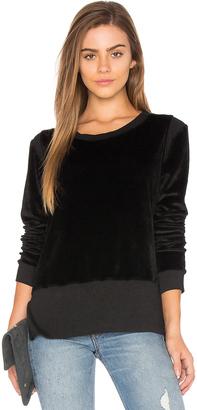 Nation LTD Gemma Velvet Sweatshirt $118 thestylecure.com