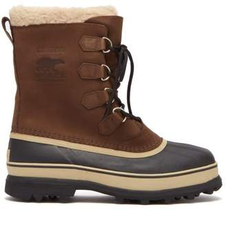 Sorel Caribou Suede Ski Boots - Mens - Brown