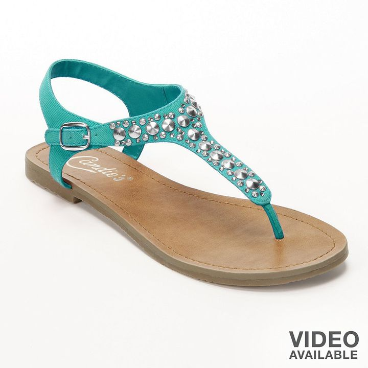 Candies Candie's ® studded thong sandals - women