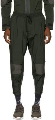 Y-3 Green Ribbed Track Pants