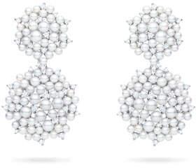 Paul Morelli Lagrange 18K Pearl & Diamond Small Double-Dangle Earrings