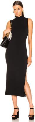 Nicholas Compact Column Slit Dress in Black | FWRD