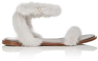Valentino Women's Mink Fur Sandals