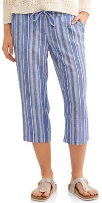 Blend of America Generic Women's Linen Capri Pants