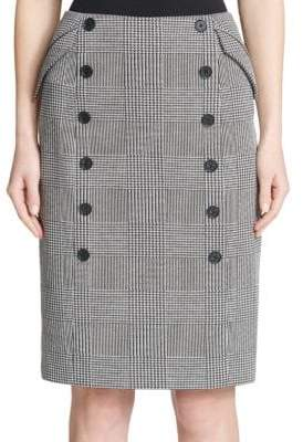 Calvin Klein Button Pencil Skirt