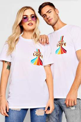 boohoo Pride Loose Fit Love Is Love T-Shirt