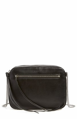 Allsaints 'Fleur De Lis' Crossbody Bag - Black $198 thestylecure.com