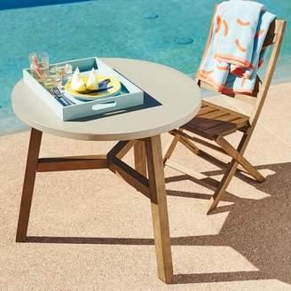 west elm Mosaic Outdoor Bistro Table - Solid Concrete