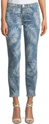 Current/Elliott The Stiletto Palm-Print Skinny Jeans