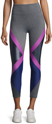 Lanston Jackson Diamond Block Leggings, Purple Pattern
