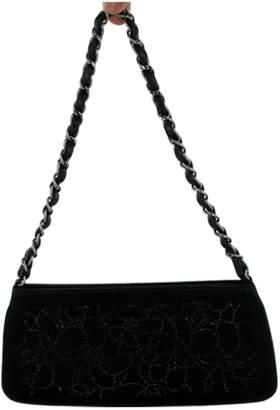 Chanel Black Silk Clutch Bag