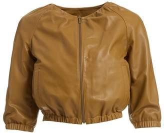 Wtr WtR Escabiosa Brown Leather Bomber Jacket