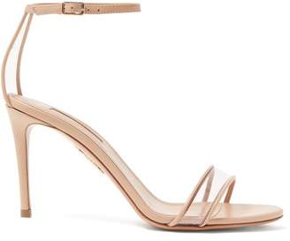 Aquazzura Minimalist 85 Leather Sandals - Womens - Nude