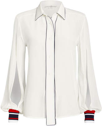 Golden Goose Isako Silk Button Front Blouse