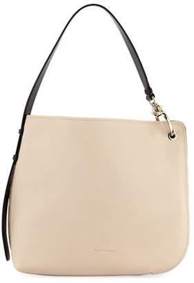 Salvatore Ferragamo Soft Pebbled Leather Hobo Bag