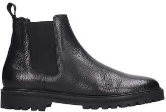 Etq Cb 01 High Heels Ankle Boots In Black Leather