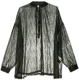 IRO oversized mandarin collar shirt