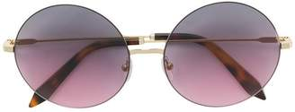 Victoria Beckham Feather Round sunglasses