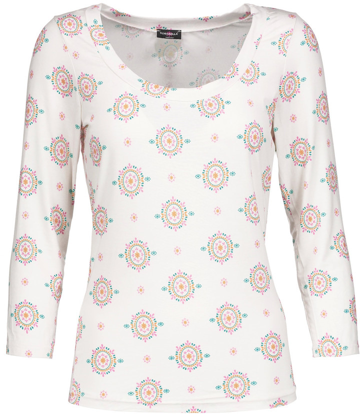 Cosabella Cosabella Medallion printed stretch-jersey pajama top
